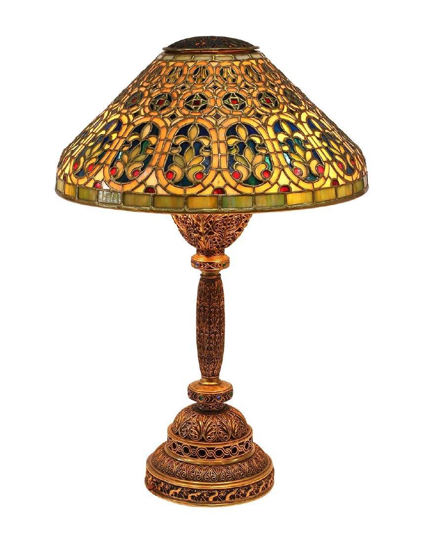Tiffany Studios Venetian table lamp circa 1910