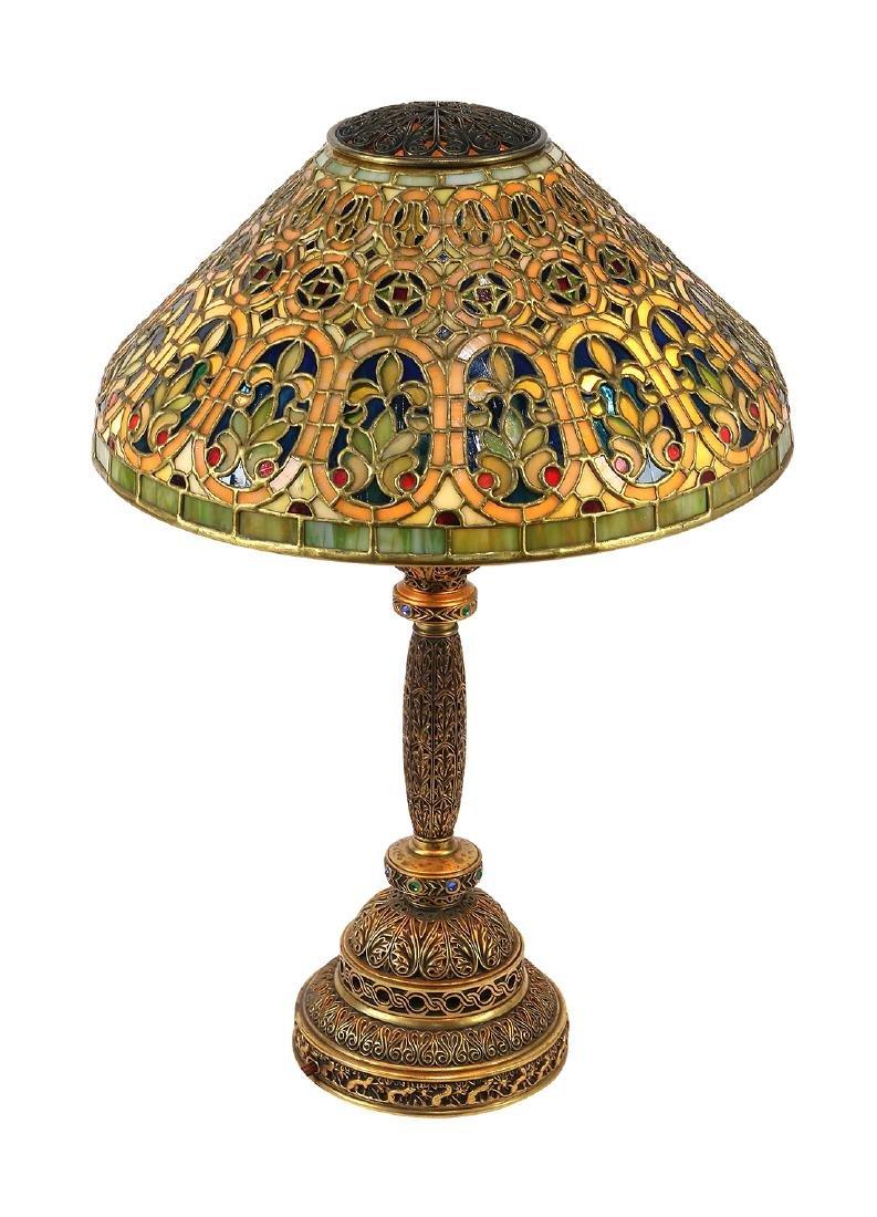 Tiffany Studios Venetian table lamp circa 1910 - 2