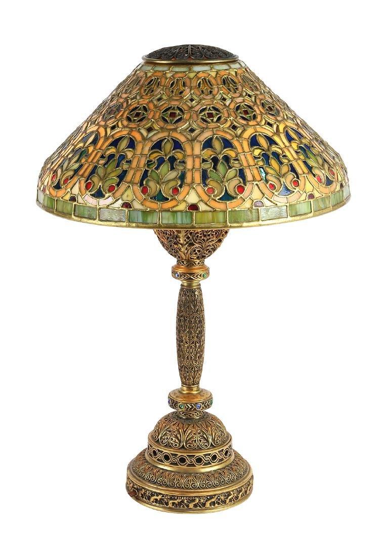 Tiffany Studios Venetian table lamp circa 1910 - 3