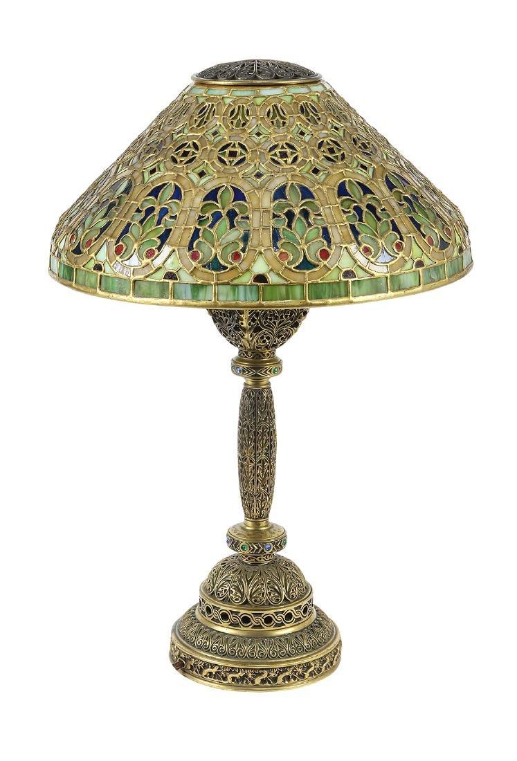 Tiffany Studios Venetian table lamp circa 1910 - 4
