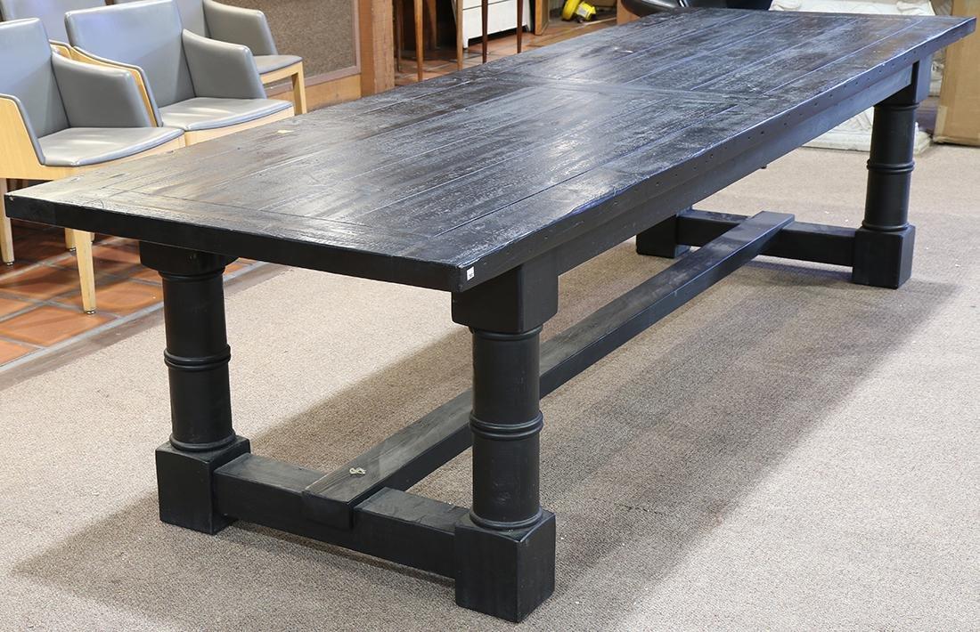 Restoration Hardware ebonized harvest table