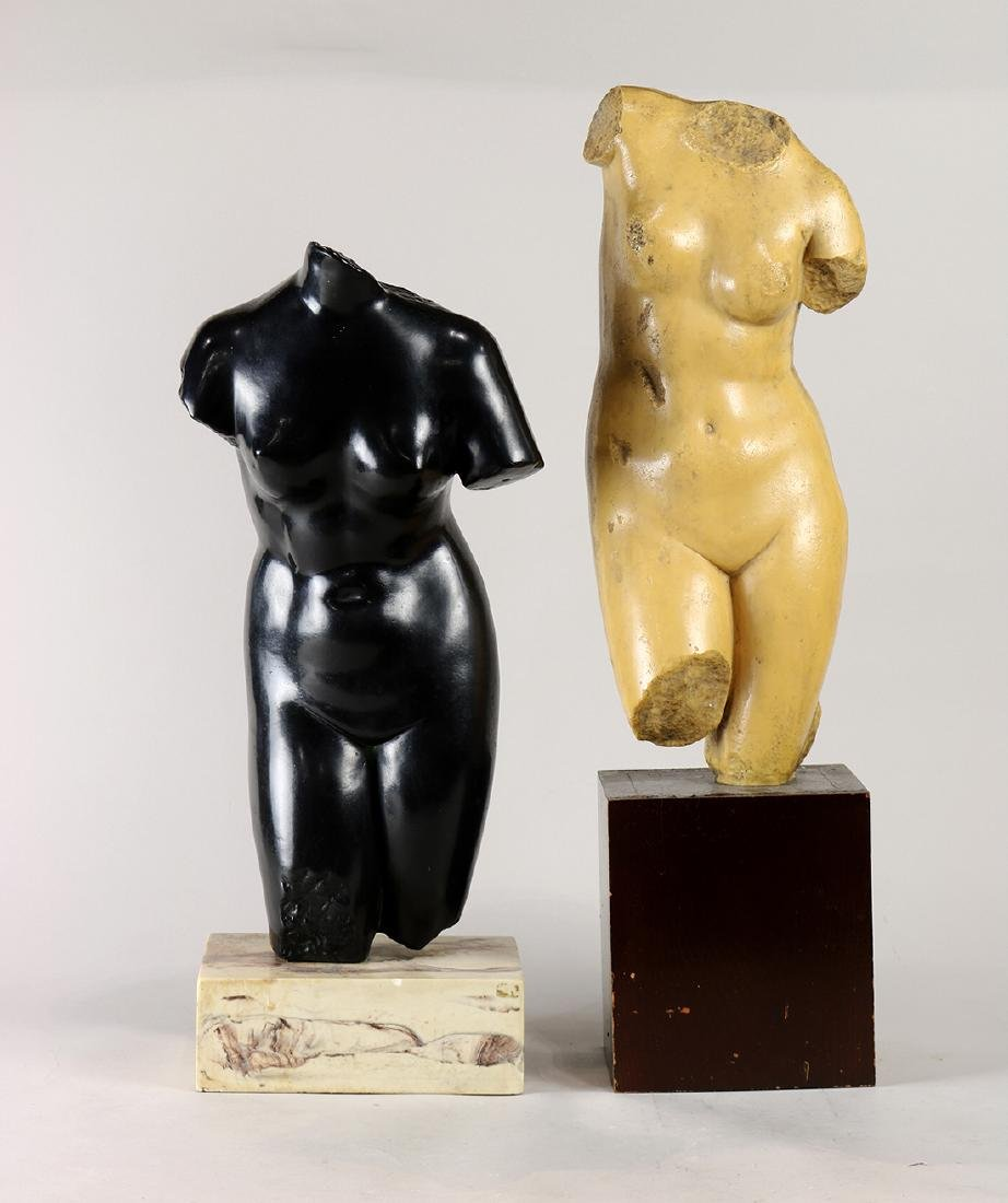 (lot of 2) Classical style figural composition