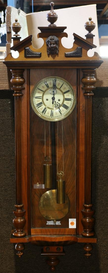 Austrian walnut regulator clock