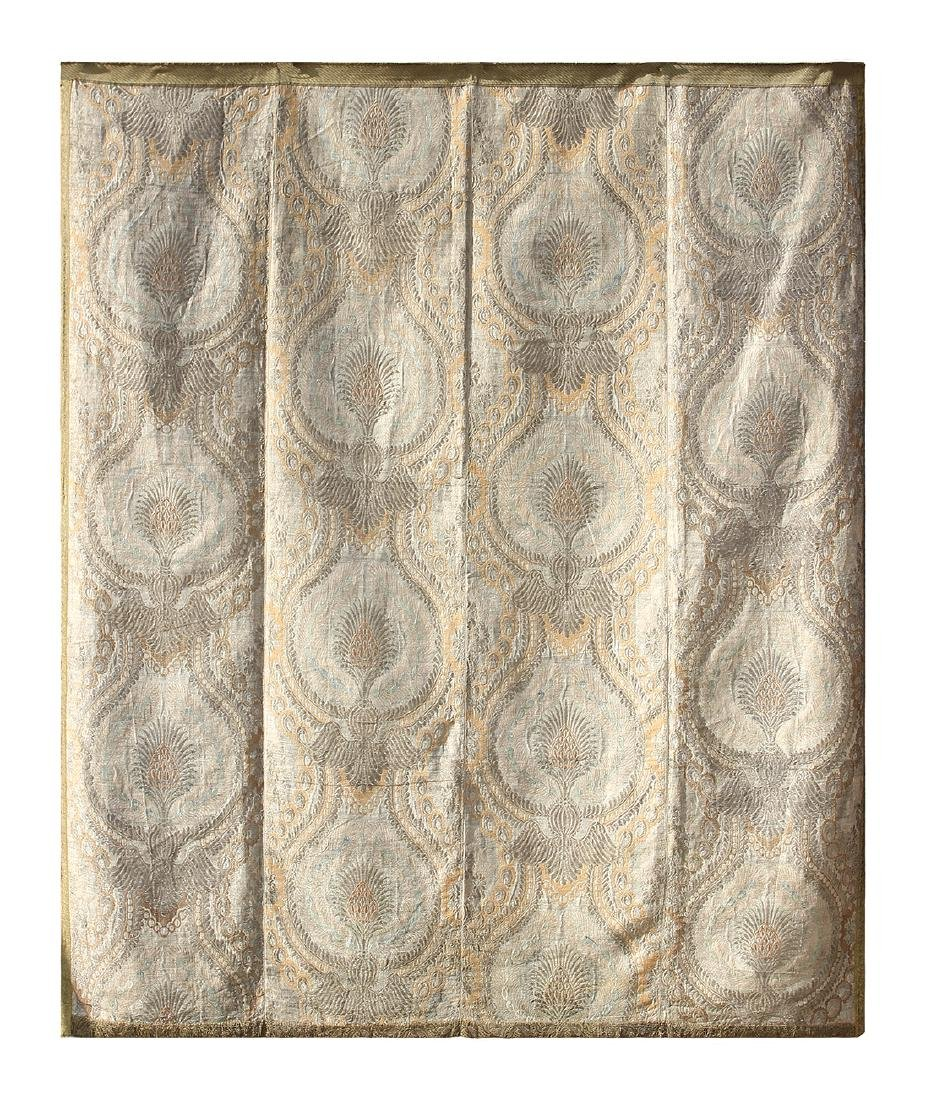 Continental brocade tapestry, 18th century, having