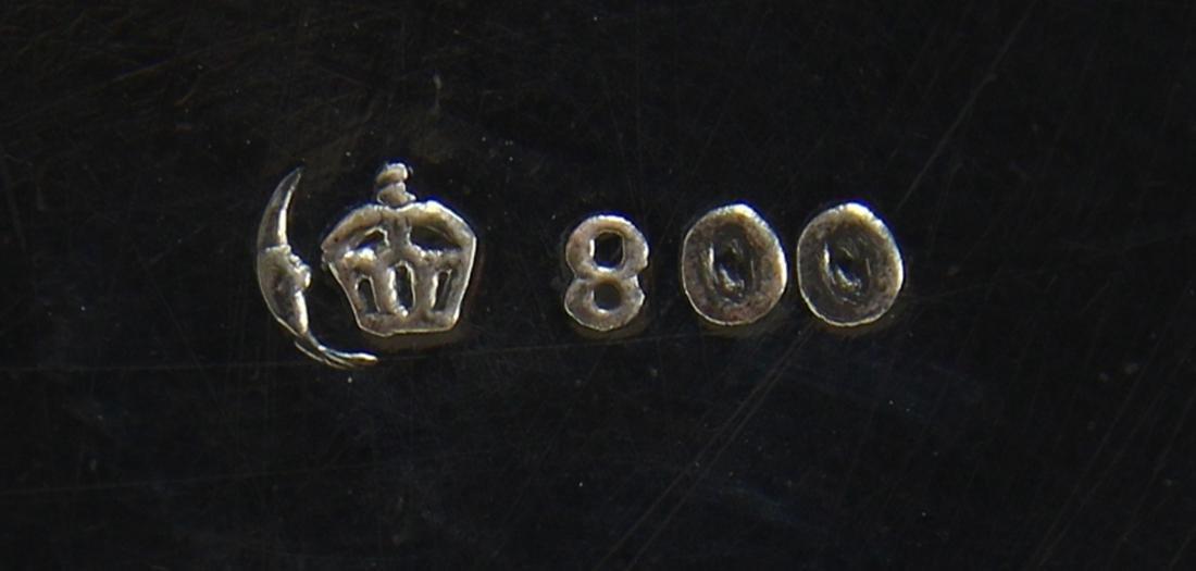 German 800 silver tankard, circa 1900, the cylindrical - 5