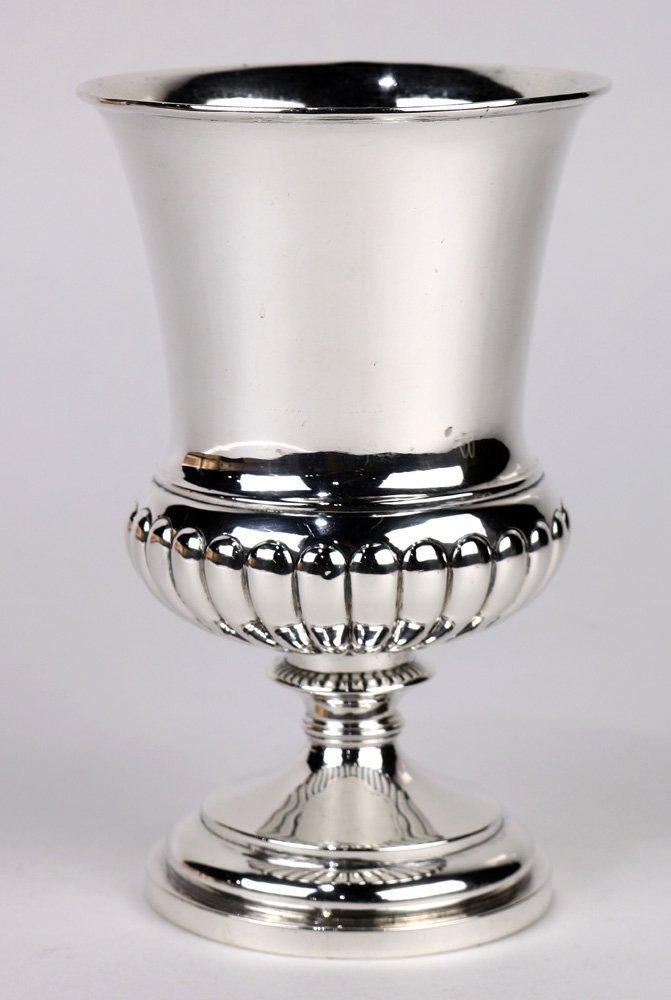 George II sterling silver goblet by Gus Banard, 1814,