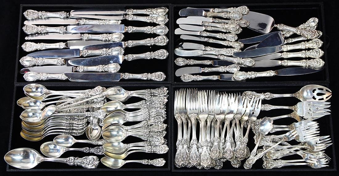 (lot of 150) Reed and Barton sterling flatware,