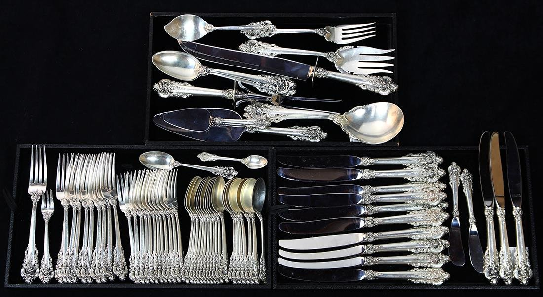 (lot of 73) Wallace sterling silver flatware service
