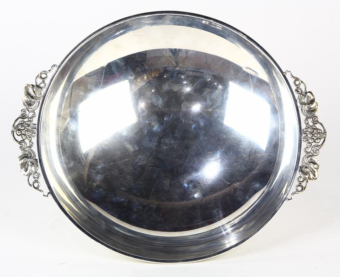 German silver 830 grape bowl