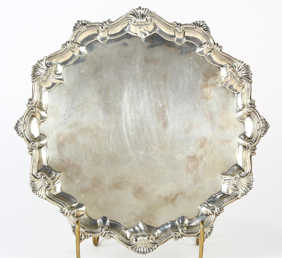 George III sterling  silver salver, London, 1762, Robb