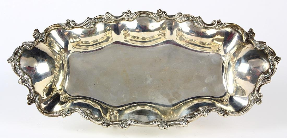 Mexican Sanborns sterling silver bread dish, with C