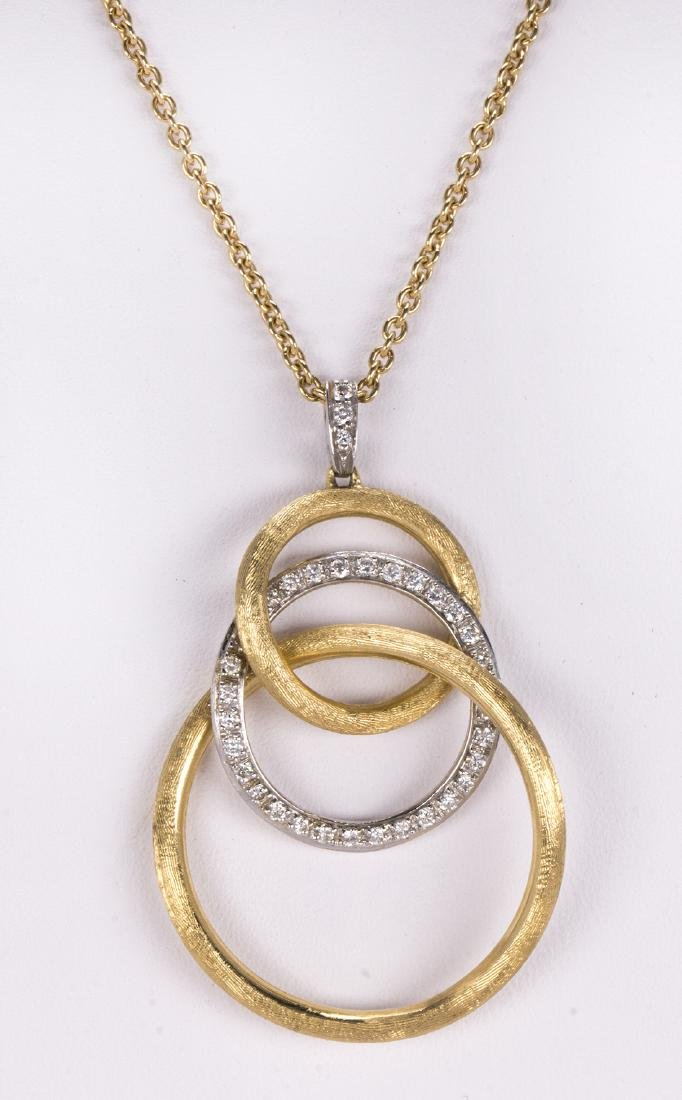 Diamond and 18k gold pendant-necklace