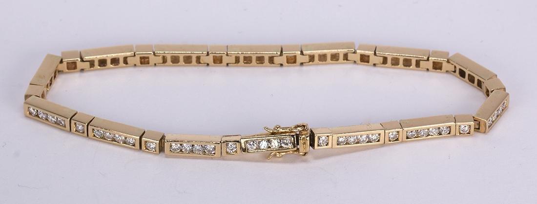 Diamond and 14k yellow gold bracelet - 3