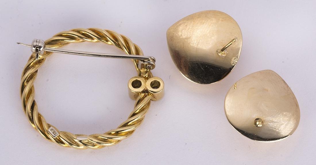 (Lot of 2) Diamond, 18k and 14k yellow gold jewelry - 2