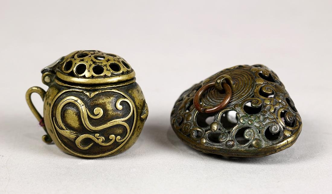 Japanese Bronze Netsuke, 18c and  19c