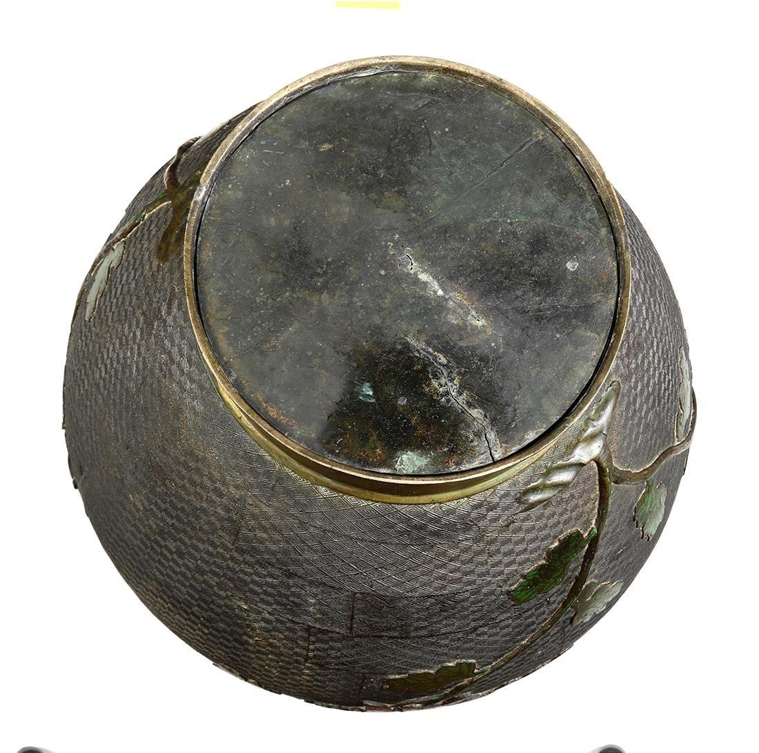 Japanese Large Champleve Cloissonne Vase, Meiji - 6