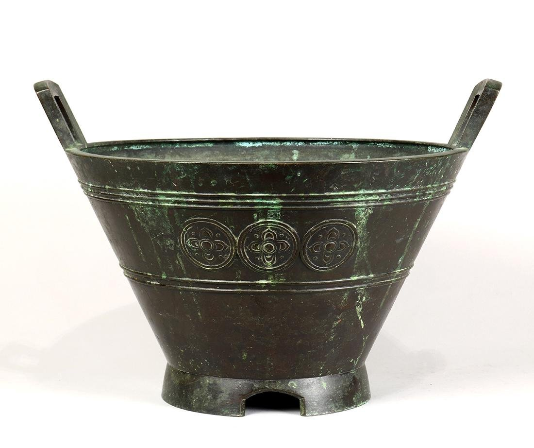Japanese Bronze Large Vessel