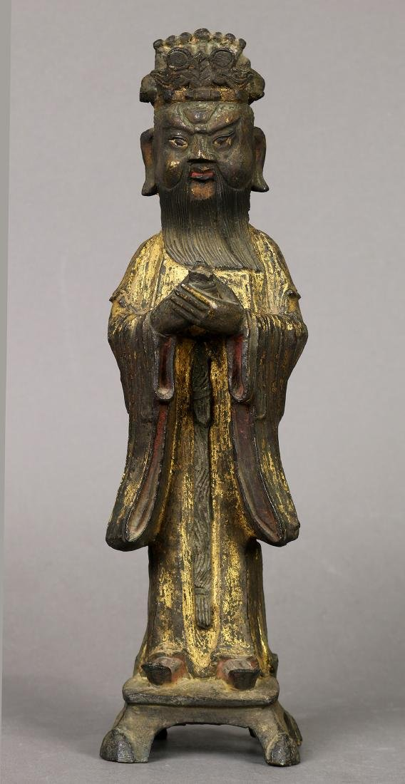 Chinese Gilt Bronze Official