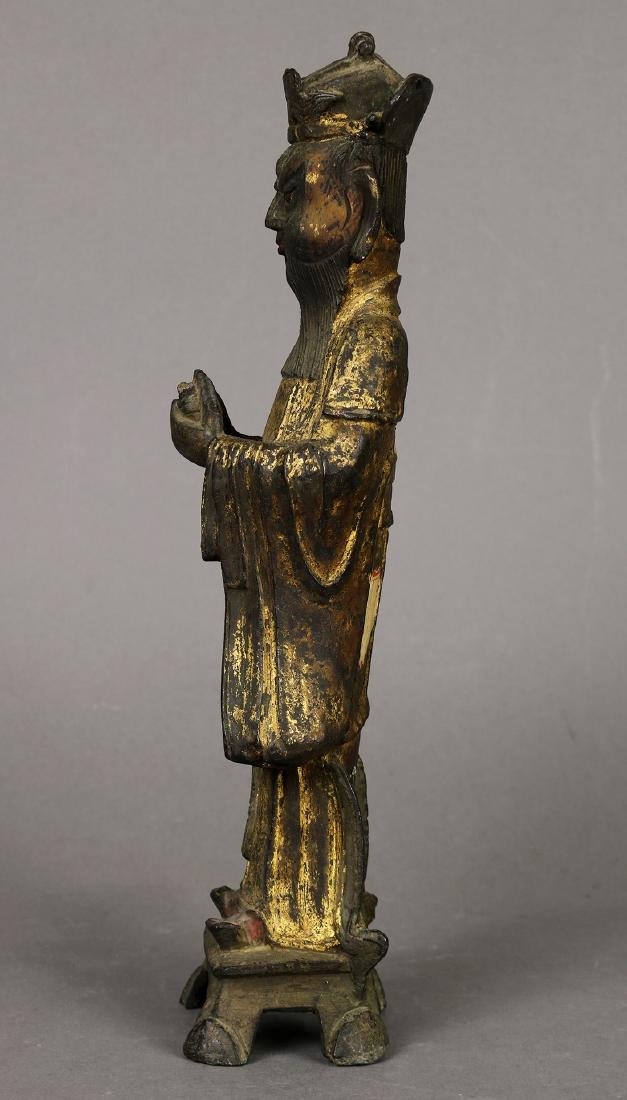 Chinese Gilt Bronze Official - 3