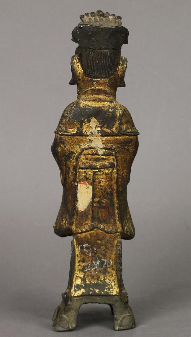 Chinese Gilt Bronze Official - 4