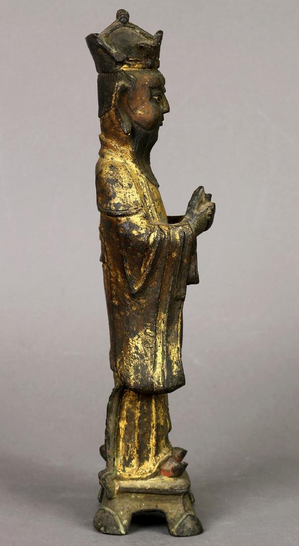Chinese Gilt Bronze Official - 5