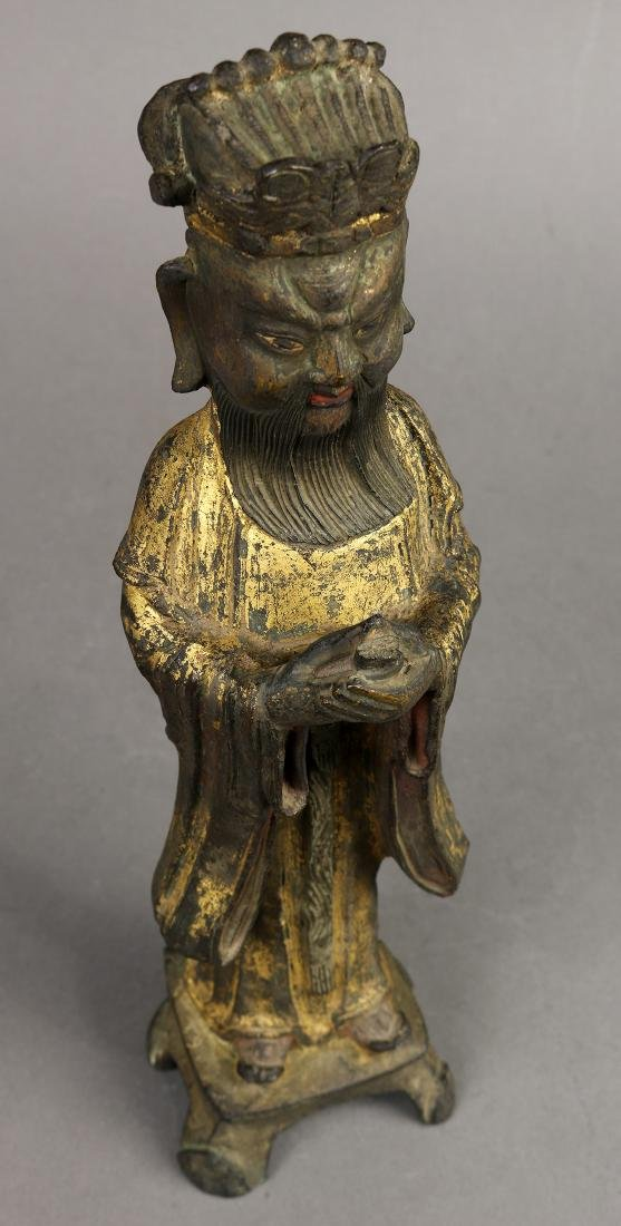 Chinese Gilt Bronze Official - 7