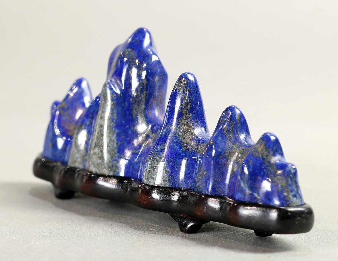 Chinese Lapis Lazuli Brush Rest - 4