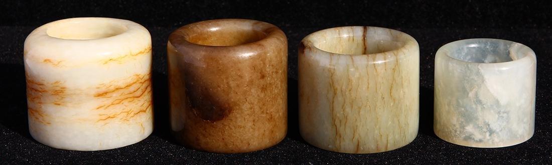 Chinese Hardstone Thumb Rings