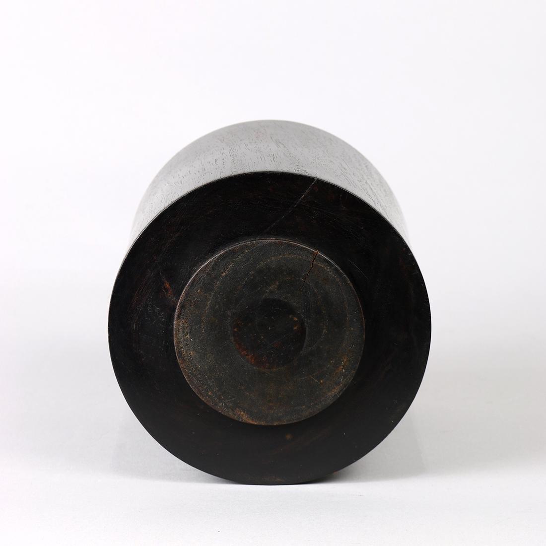 Chinese Cylindrical Wood Brush Pot - 5