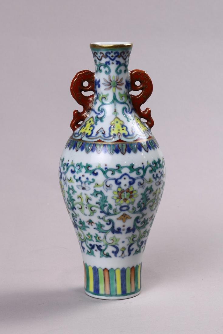 Chinese Doucai Porcelain Vase, Lotus
