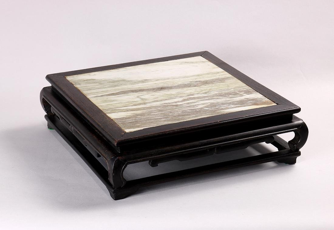 Chinese Marble Inlay Stand