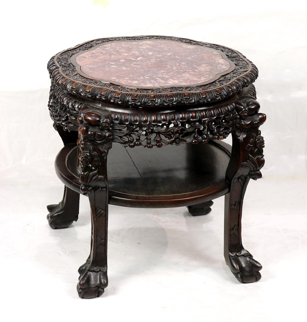 Chinese Tiered Side Table - 3