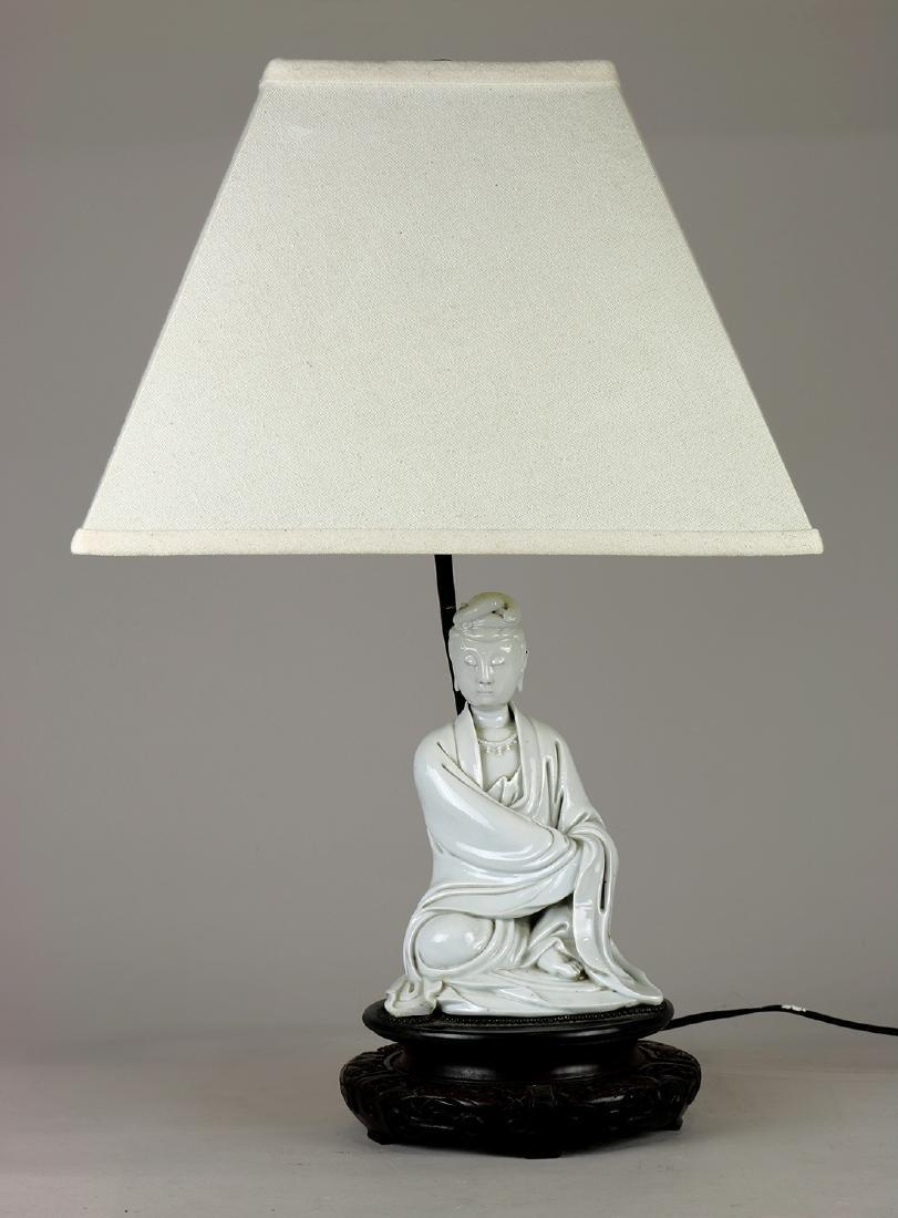 Chinese Blanc de Chine Guanyin/Lamp