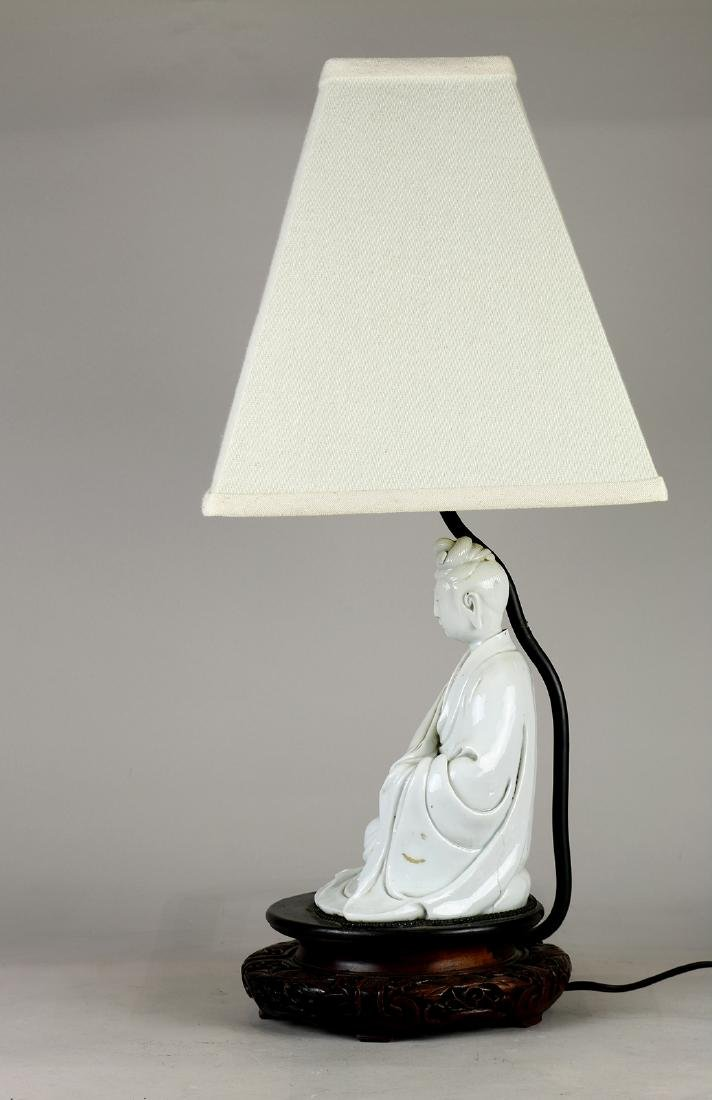 Chinese Blanc de Chine Guanyin/Lamp - 2