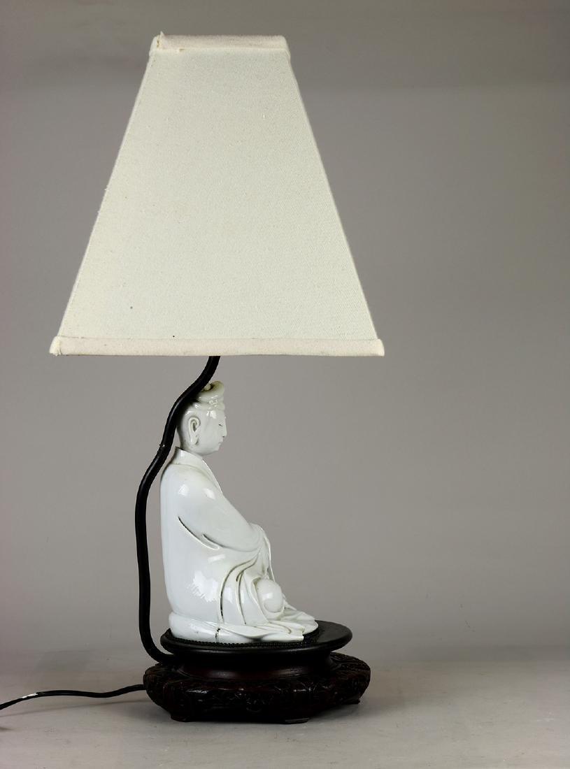 Chinese Blanc de Chine Guanyin/Lamp - 4