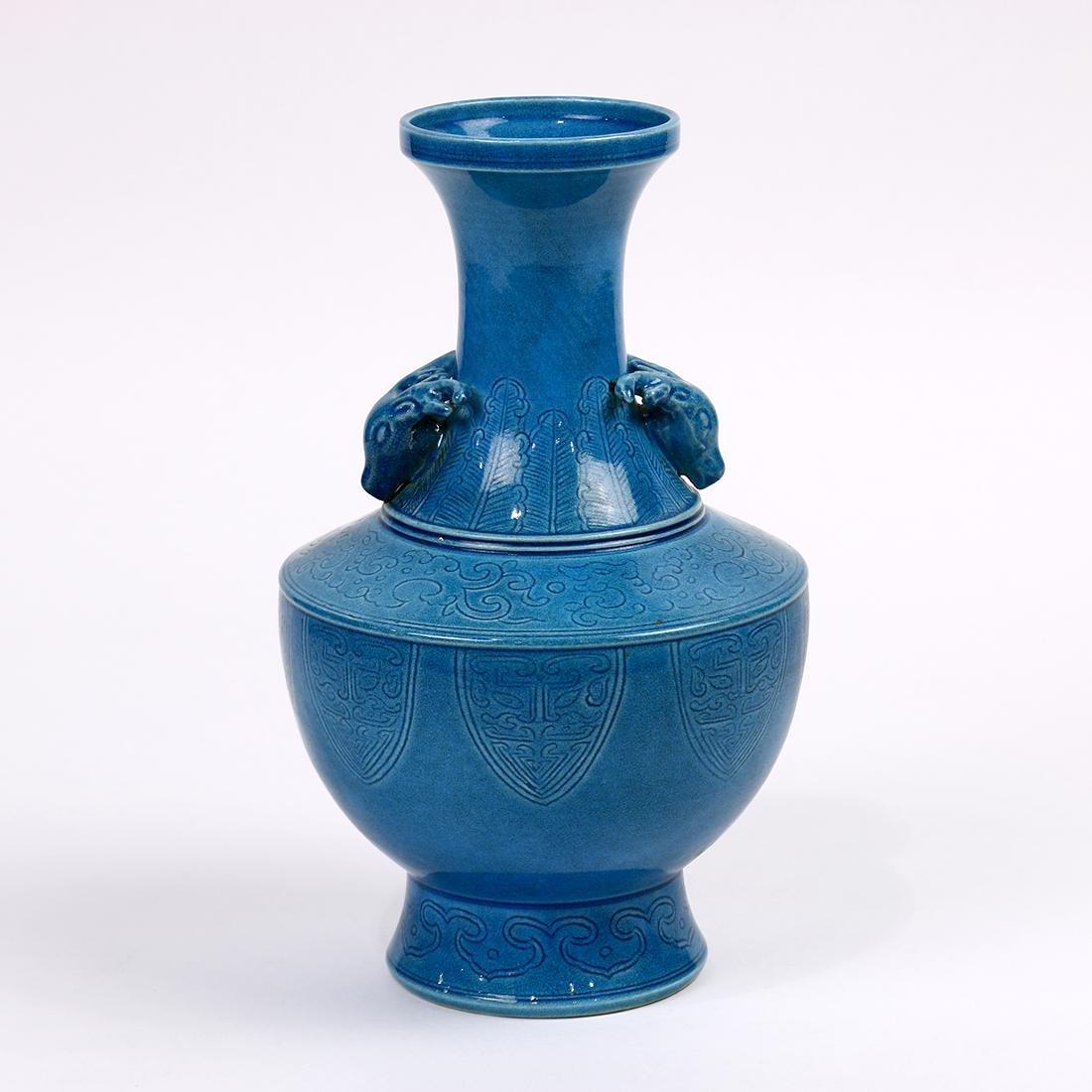Chinese Turquoise Porcelain Vase