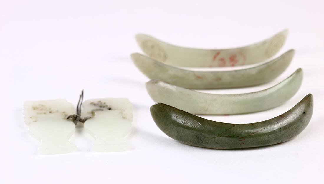 Chinese Jade/Hardstone Hairpins/Plaques