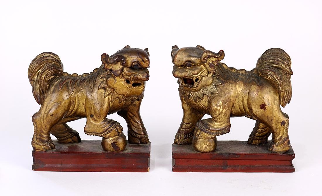 Chinese Wood Fu-lions