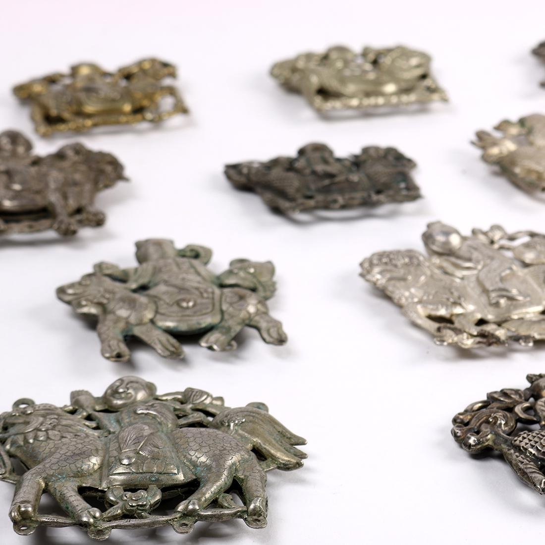 Chinese Silver Plaques, Child/Qilin