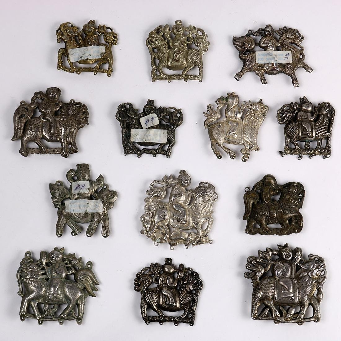 Chinese Silver Plaques, Child/Qilin - 2