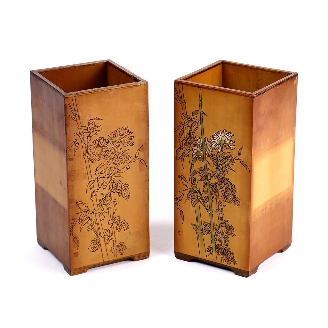 Square Bamboo Brush Pots