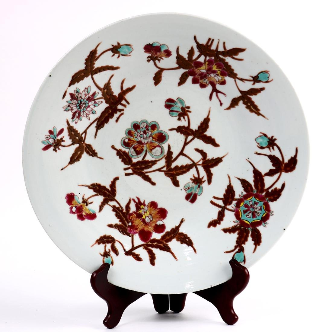 Chinese Porcelain Charger, Flowers