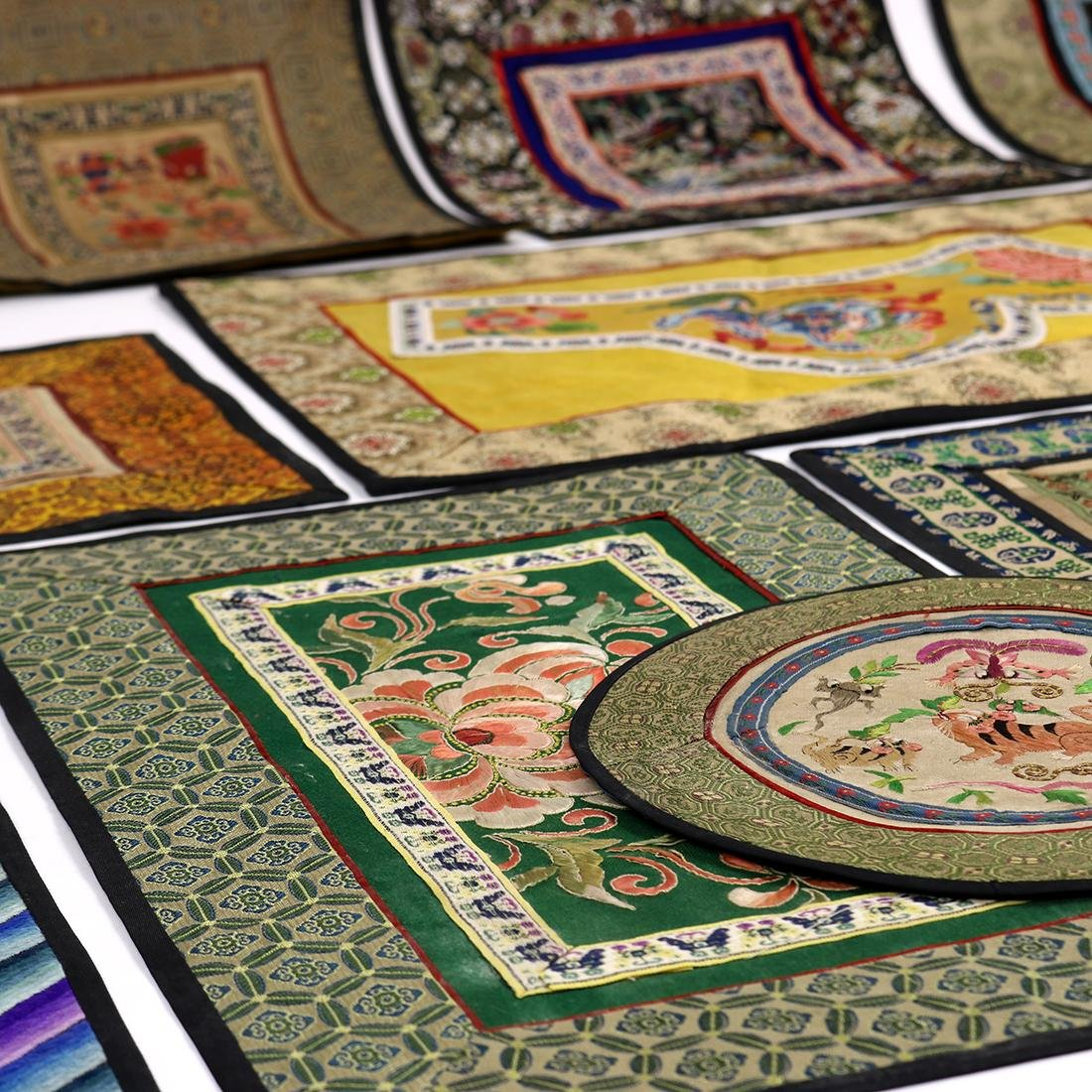 Chinese Embroidered Fragments