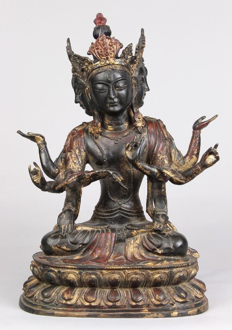 Chinese Copper Alloy Bodhisattva