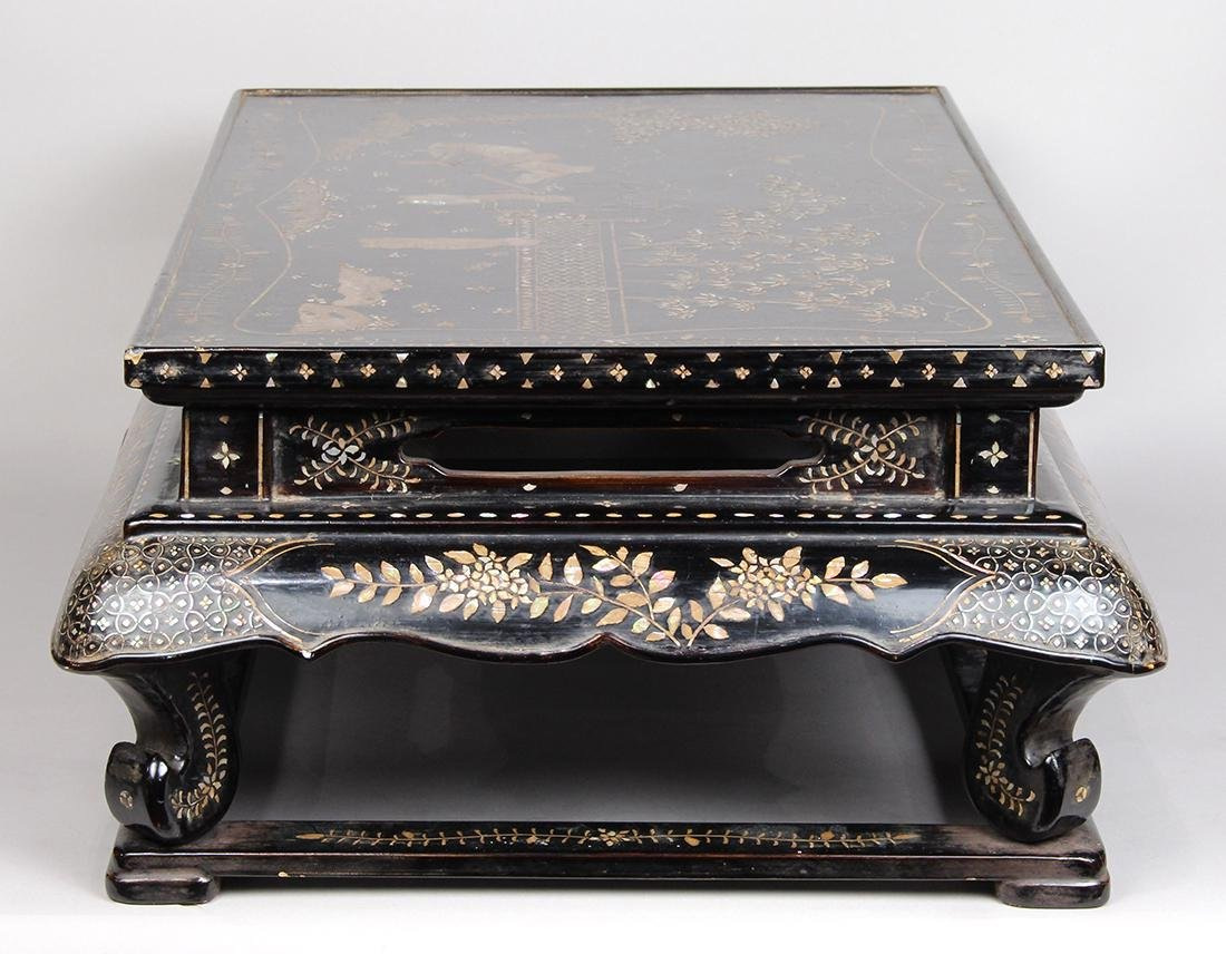 Asian Mother-of-Pearl Tray Table - 3