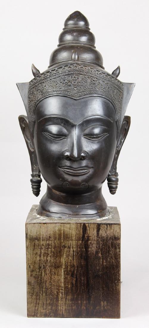 Thai Alloy Buddha Head