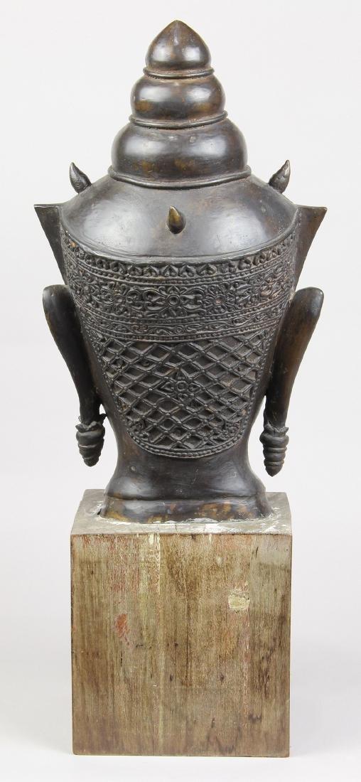 Thai Alloy Buddha Head - 2