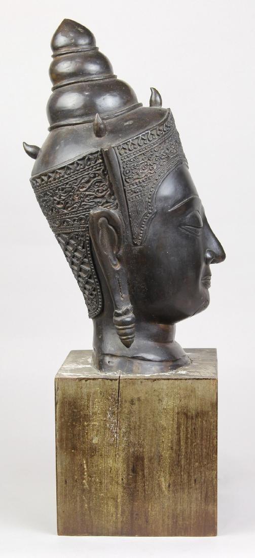 Thai Alloy Buddha Head - 4
