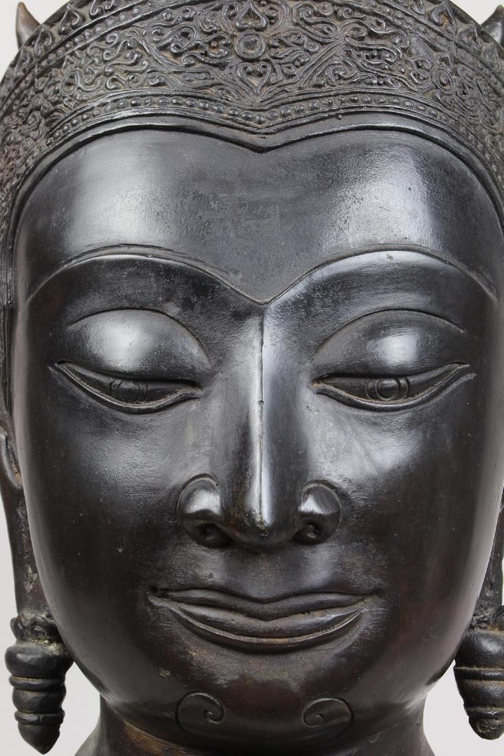 Thai Alloy Buddha Head - 7