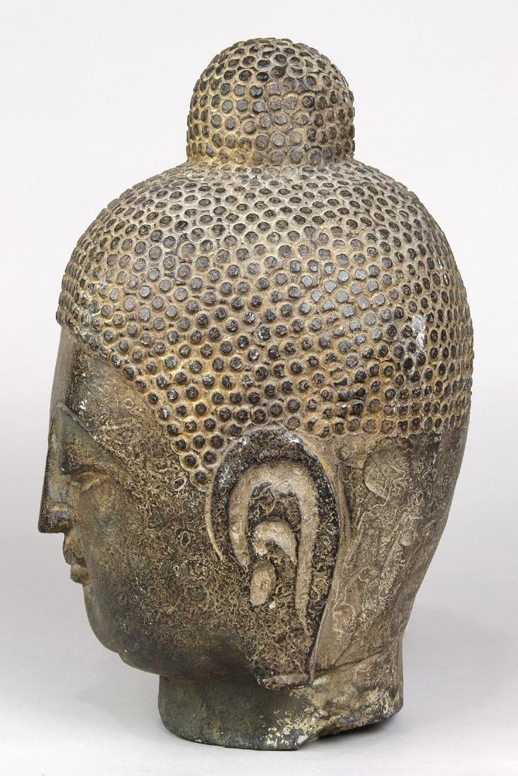 Chinese Stone Buddha Head - 3
